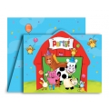 Barnyard Bash Farm Party Invites (8)